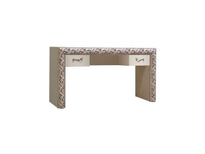 Стол туалетный 1,6 м ТФСТ-2(П) Тиффани Премиум Слоновая кость серебро