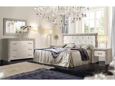 Спальня Тиффани Премиум Слоновая кость серебро