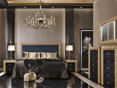 Спальня Тиффани Премиум Черное золото