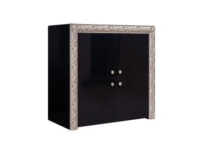 Пенал 4-х дверный ТФП-3(П) Тиффани Премиум Черное серебро