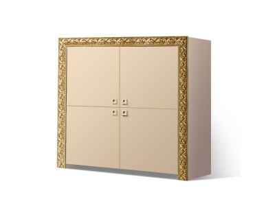 Пенал 4-х дверный ТФП-3(П) Тиффани Премиум Капучино золото