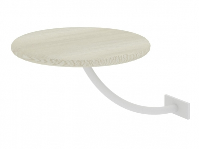 Полка прикроватная круглая Милсон белая