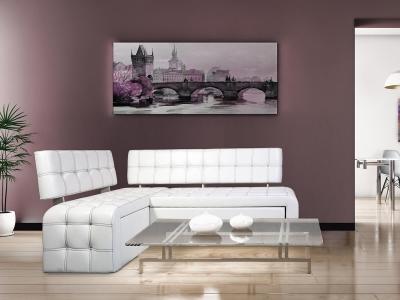 Диван Прага со спальным местом Ясень - Борнео Милк