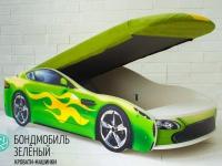 Кровать-машина Бондмобиль зеленый