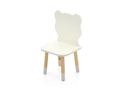 Детский стул Stumpa мишка белый