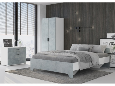 Спальня Victor Белый-бетон