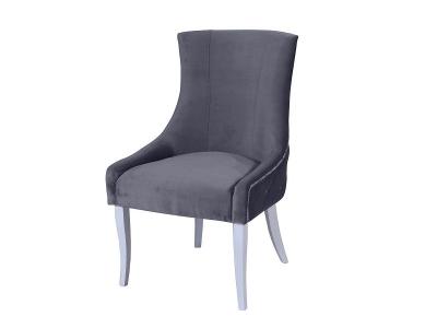 Кресло Марцио серое опоры белые