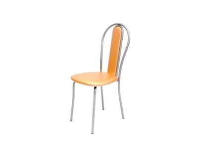 Кухонный стул Венский М серебристый металлик-апельсин