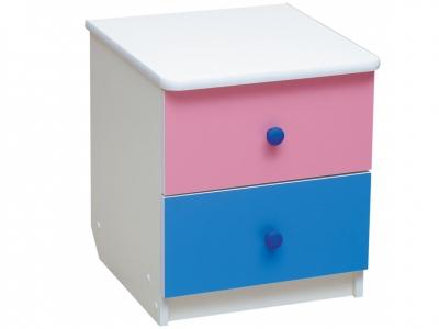 Тумба прикроватная Радуга Ярко-розовый - Синий