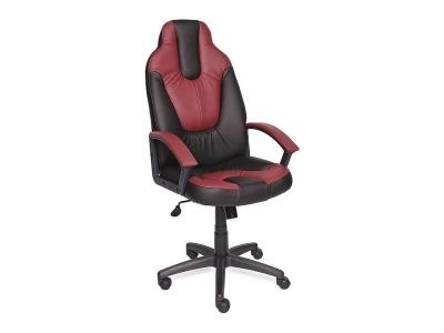 Кресло Neo 2 иск кожа Чёрный - Бордо