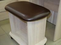 Банкетка Рондо Дуб сонома - эко-кожа коричневая