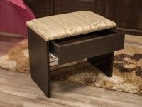 Банкетка с ящиком Венге - Марго линия крем