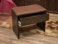 Банкетка с ящиком Венге - Марго ромб бордо