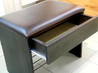 Банкетка с ящиком Венге - эко-кожа коричневая