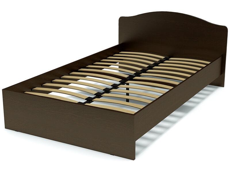 Кровать 120 Альфа 22 с основанием Венге