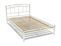 Кровать 120 Виола металлическая Белый глянец