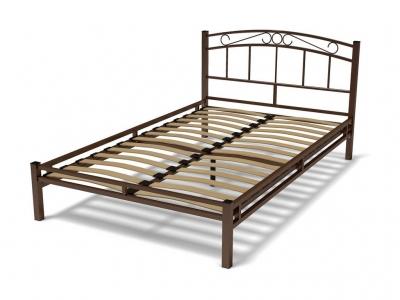 Кровать 120 Виола металлическая Венге