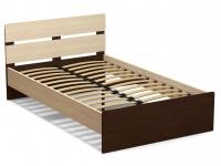 Кровать 120 Эксон с основанием Дуб млечный - Венге