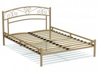 Кровать 140 Адель металлическая Крем