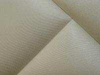 Кровать 140 Аида ПМ Белый - МДФ Топлёное молоко - ткань Энигма бежевый