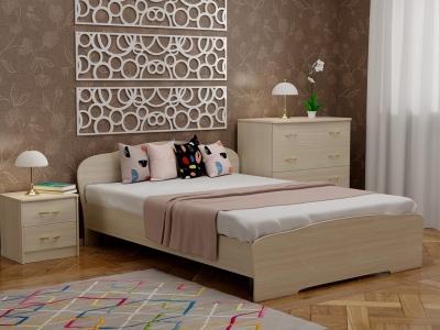 Кровать 140 Альфа с основанием Дуб млечный