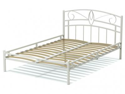 Кровать 140 Арго металлическая Белый глянец