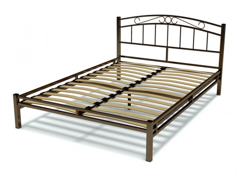 Кровать 140 Виола металлическая Венге