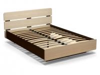 Кровать 140 Жанна с основанием Венге - Дуб млечный