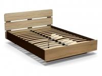 Кровать 140 Жанна с основанием Венге - Дуб сонома