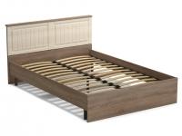 Кровать 140 Лаура с основанием Винтаж - МДФ Лён жемчужный