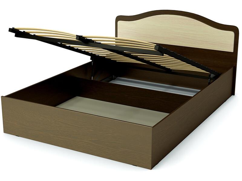 Кровать 140 Лиана ПМ Венге - Дуб млечный