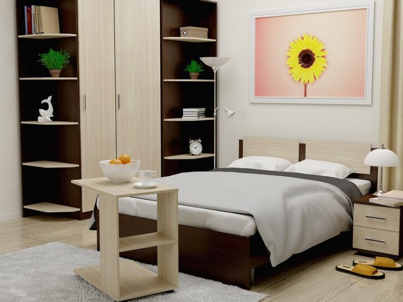 Кровать 140 Танго с основанием Венге - Дуб млечный