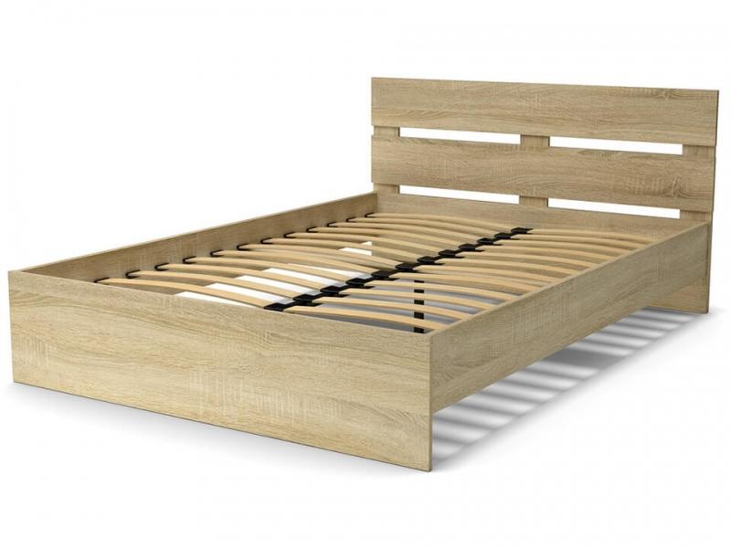 Кровать 140 Эко-стиль с основанием Дуб сонома