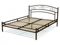 Кровать 160 Адель металлическая Венге
