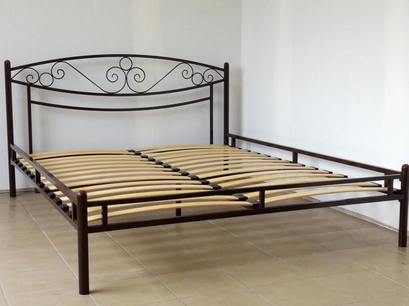 Кровать 160 Адель-2 металлическая Венге
