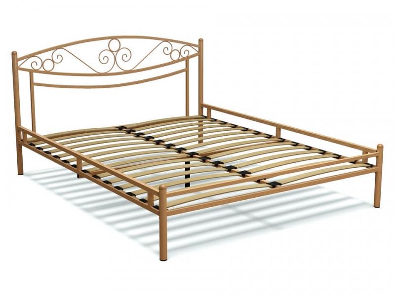 Кровать 160 Адель-2 металлическая Крем