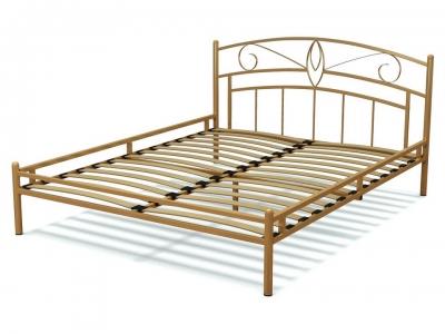 Кровать 160 Арго металлическая Крем