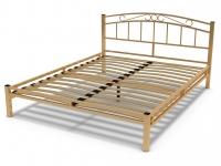 Кровать 160 Виола металлическая Крем
