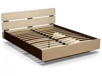 Кровать 160 Жанна с основанием Венге - Дуб млечный