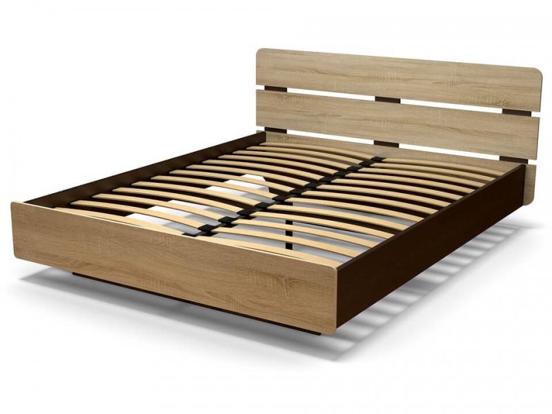 Кровать 160 Жанна с основанием Венге - Дуб сонома
