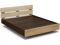 Кровать 160 Жанна с основанием ЛДСП Венге - Дуб сонома