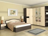 Кровать 160 Лиана ПМ Венге - Дуб млечный