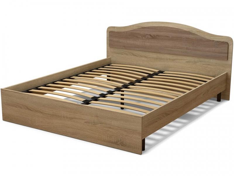 Кровать 160 Лиана с основанием Дуб сонома - Винтаж