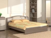 Кровать 160 Лиана с основанием Ясень шимо тёмный - Ясень шимо светлый