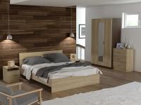 Кровать 160 Эко-стиль с основанием Дуб сонома