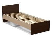 Кровать 80 Эксон с основанием Дуб млечный - Венге