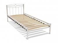 Кровать 80 Юнга-1 металлическая Белый глянец