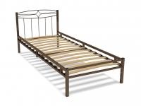 Кровать 80 Юнга-1 металлическая Венге