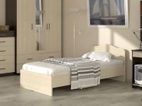 Кровать 90 Альфа 22 с основанием Дуб млечный