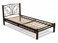 Кровать 90 Фантазия-1 металлическая Венге